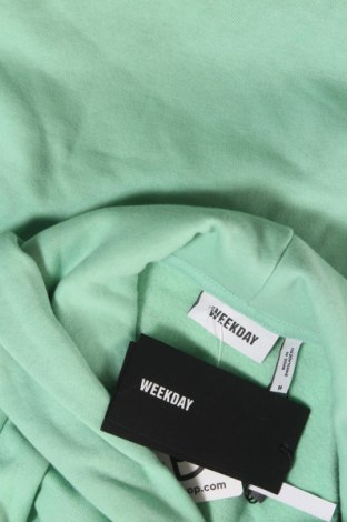 Дамски суичър Weekday, Размер M, Цвят Зелен, 80% памук, 20% полиестер, Цена 51,75лв.