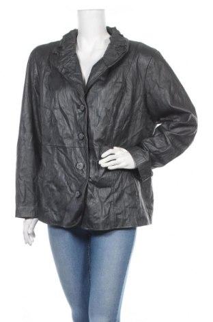 Дамско кожено яке, Размер XL, Цвят Сив, Естествена кожа, Цена 51,40лв.