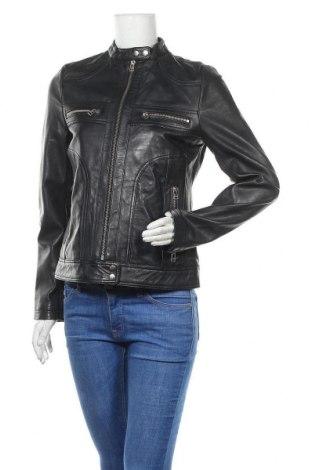 Γυναικείο δερμάτινο μπουφάν Blue Wellford, Μέγεθος S, Χρώμα Μπλέ, Γνήσιο δέρμα, Τιμή 167,19€