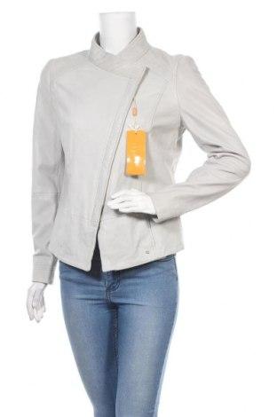 Дамско кожено яке Boss Orange, Размер M, Цвят Сив, Естествена кожа, Цена 447,85лв.