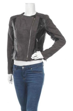 Дамско кожено яке H&M Divided, Размер M, Цвят Черен, Еко кожа, текстил, Цена 16,28лв.