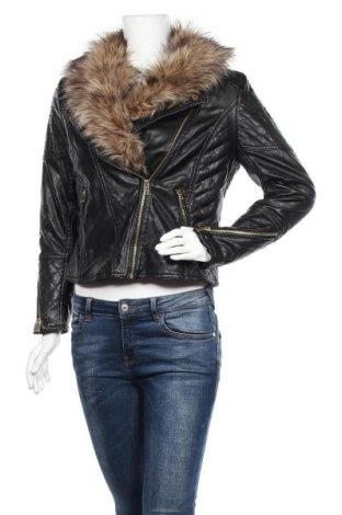 Γυναικείο δερμάτινο μπουφάν H&M Divided, Μέγεθος XL, Χρώμα Μαύρο, Δερματίνη, Τιμή 30,23€