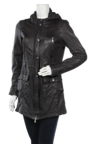 Дамско кожено яке Oakwood, Размер M, Цвят Черен, Естествена кожа, Цена 108,36лв.