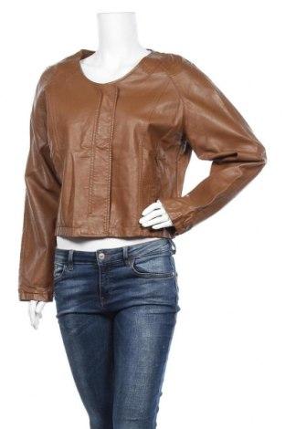 Дамско кожено яке Veto, Размер L, Цвят Кафяв, Еко кожа, Цена 11,03лв.