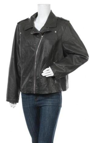 Дамско кожено яке Zizzi, Размер XXL, Цвят Зелен, Еко кожа, Цена 35,91лв.