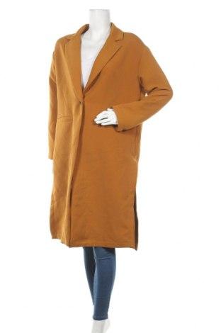 Дамско палто Stradivarius, Размер L, Цвят Жълт, Полиестер, Цена 44,10лв.