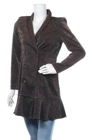 Γυναικείο παλτό Y.A.S, Μέγεθος M, Χρώμα Καφέ, 50% πολυεστέρας, 32% πολυαμίδη, 18% μεταλλικά νήματα, Τιμή 29,88€