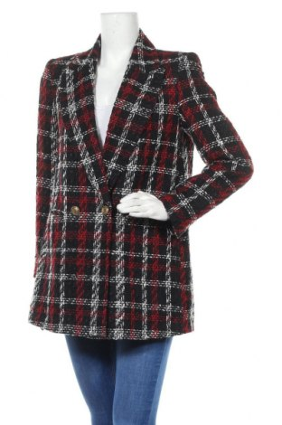Дамско палто Zara, Размер M, Цвят Многоцветен, Цена 47,25лв.