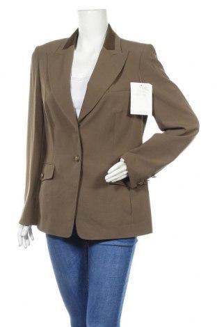 Дамско сако Alba Moda, Размер L, Цвят Зелен, 53% полиестер, 43% вълна, 4% еластан, Цена 35,91лв.