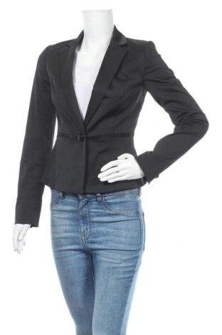 Дамско сако Mango, Размер S, Цвят Черен, 49% памук, 46% полиестер, 5% еластан, Цена 33,60лв.