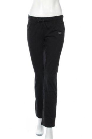 Дамско спортно долнище H.i.s, Размер M, Цвят Черен, 92% памук, 8% еластан, Цена 62,30лв.
