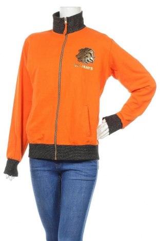 Γυναικεία αθλητική ζακέτα Rojami's, Μέγεθος L, Χρώμα Πορτοκαλί, 80% βαμβάκι, 20% πολυεστέρας, Τιμή 19,12€