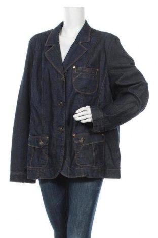 Γυναικείο μπουφάν Elena Miro, Μέγεθος 3XL, Χρώμα Μπλέ, 99% βαμβάκι, 1% ελαστάνη, Τιμή 25,92€