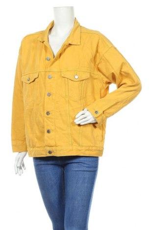 Γυναικείο μπουφάν H&M, Μέγεθος L, Χρώμα Κίτρινο, Βαμβάκι, Τιμή 29,62€
