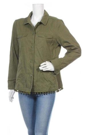 Γυναικείο μπουφάν Talbots, Μέγεθος L, Χρώμα Πράσινο, Βαμβάκι, Τιμή 23,38€