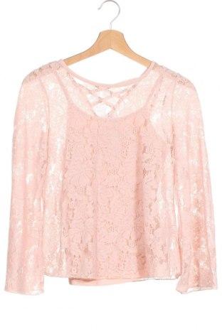 Детска блуза Lindex, Размер 10-11y/ 146-152 см, Цвят Розов, 40% вискоза, 30% полиамид, 30% памук, Цена 16,80лв.