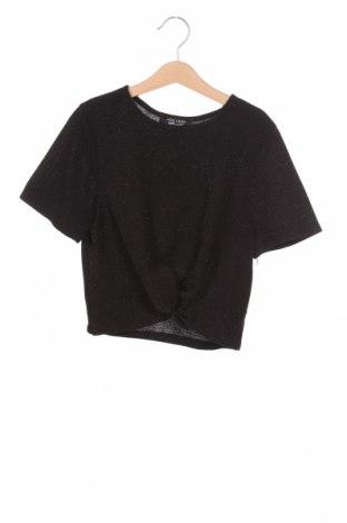 Детска блуза New Look, Размер 11-12y/ 152-158 см, Цвят Черен, 93% полиестер, 4% метални нишки, 3% еластан, Цена 19,50лв.