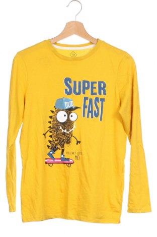 Детска блуза Tex, Размер 13-14y/ 164-168 см, Цвят Жълт, Памук, Цена 18,95лв.