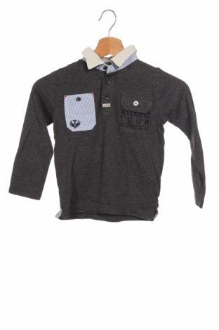 Детска блуза Tom Tailor, Размер 3-4y/ 104-110 см, Цвят Сив, 85% памук, 15% полиестер, Цена 10,80лв.