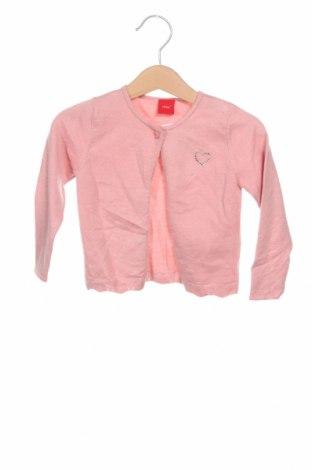Детска жилетка S.Oliver, Размер 9-12m/ 74-80 см, Цвят Розов, 52% вискоза, 28% полиестер, 20% полиамид, Цена 32,20лв.
