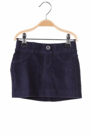 Dziecięca spódnica United Colors Of Benetton, Rozmiar 2-3y/ 98-104 cm, Kolor Niebieski, 62% bawełna, 35% poliester, 3% elastyna, Cena 85,50zł