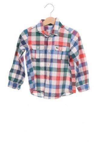 Παιδικό πουκάμισο Lacoste, Μέγεθος 3-4y/ 104-110 εκ., Χρώμα Πολύχρωμο, 78% βαμβάκι, 22% λινό, Τιμή 19,02€