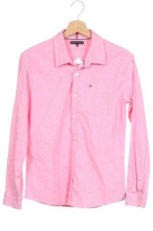 Детска риза Tommy Hilfiger, Размер 12-13y/ 158-164 см, Цвят Розов, 98% памук, 2% еластан, Цена 33,92лв.