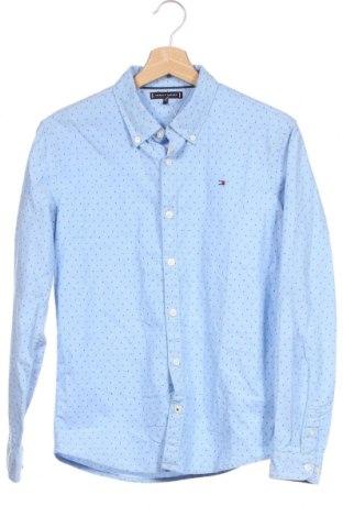Детска риза Tommy Hilfiger, Размер 12-13y/ 158-164 см, Цвят Син, 98% памук, 2% еластан, Цена 35,70лв.