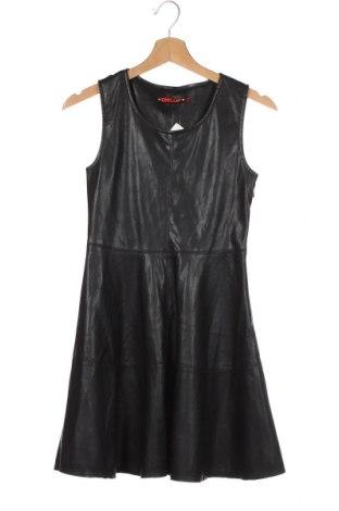 Детска рокля Cool Cat, Размер 12-13y/ 158-164 см, Цвят Черен, Еко кожа, Цена 8,82лв.