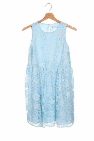 Детска рокля Friboo, Размер 10-11y/ 146-152 см, Цвят Син, 59% полиамид, 24% памук, 17% вискоза, Цена 51,75лв.