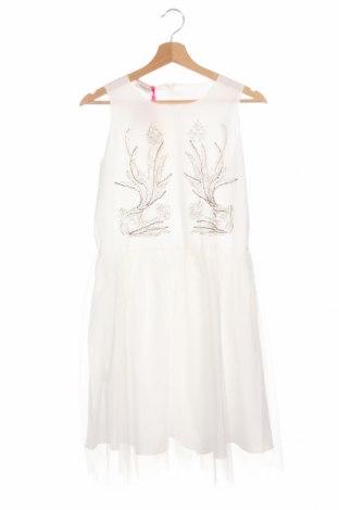 Детска рокля Pinko, Размер 14-15y/ 168-170 см, Цвят Бял, Полиестер, Цена 89,25лв.
