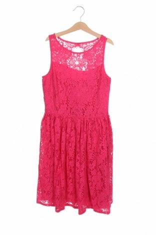 Детска рокля Polo By Ralph Lauren, Размер 10-11y/ 146-152 см, Цвят Розов, 38% вискоза, 30% памук, 32% полиамид, Цена 64,50лв.
