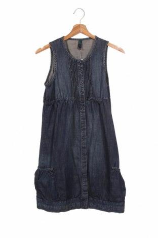 Детска рокля United Colors Of Benetton, Размер 12-13y/ 158-164 см, Цвят Син, Памук, Цена 20,25лв.