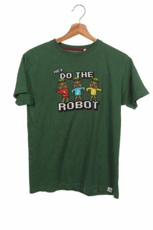 Детска тениска, Размер 12-13y/ 158-164 см, Цвят Зелен, Памук, Цена 12,97лв.