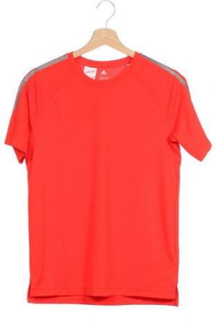 Детска тениска Adidas, Размер 13-14y/ 164-168 см, Цвят Червен, Полиестер, Цена 18,95лв.