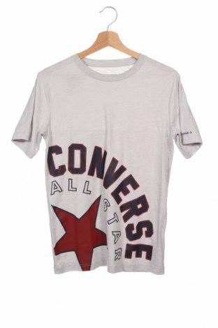 Детска тениска Converse, Размер 14-15y/ 168-170 см, Цвят Сив, 60% памук, 40% полиестер, Цена 21,42лв.