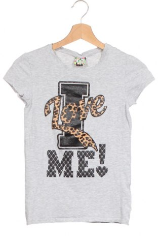 Детска тениска Cool Cat, Размер 12-13y/ 158-164 см, Цвят Сив, 90% памук, 5% вискоза, 5% еластан, Цена 16,80лв.
