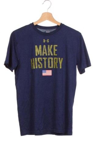 Dětské tričko  Under Armour, Velikost 15-18y/ 170-176 cm, Barva Modrá, Cena  351,00Kč
