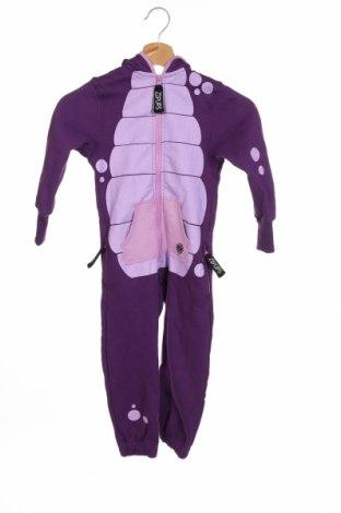 Salopetă pentru copii. Zipups, Mărime 4-5y/ 110-116 cm, Culoare Violet, 80% bumbac, 20% poliester, Preț 84,26 Lei
