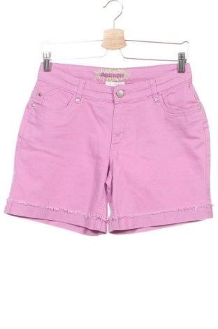 Детски къс панталон Charles Vogele, Размер 15-18y/ 170-176 см, Цвят Лилав, 98% памук, 2% еластан, Цена 13,97лв.