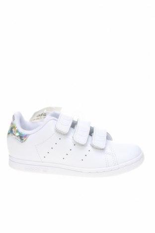 Детски обувки Adidas Originals, Размер 27, Цвят Бял, Естествена кожа, еко кожа, Цена 96,75лв.