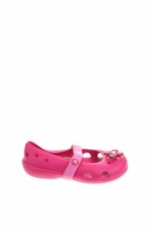 Детски обувки Crocs, Размер 24, Цвят Розов, Полиуретан, Цена 37,91лв.
