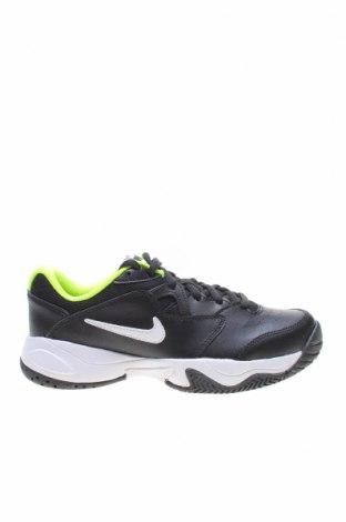 Παιδικά παπούτσια Nike, Μέγεθος 36, Χρώμα Μαύρο, Γνήσιο δέρμα, κλωστοϋφαντουργικά προϊόντα, δερματίνη, Τιμή 36,34€