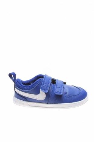 Детски обувки Nike, Размер 25, Цвят Син, Естествена кожа, еко кожа, Цена 66,75лв.
