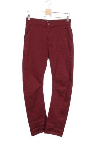 Детски панталон H&M, Размер 7-8y/ 128-134 см, Цвят Червен, 97% памук, 3% еластан, Цена 30,45лв.