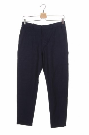 Детски панталон H&M, Размер 15-18y/ 170-176 см, Цвят Син, 56% лен, 44% памук, Цена 5,78лв.