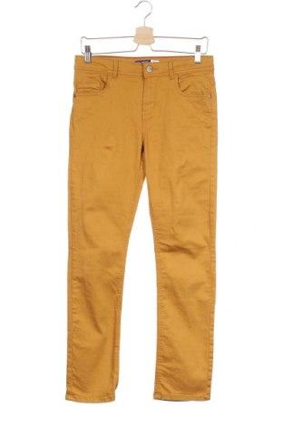 Детски панталон Okaidi, Размер 13-14y/ 164-168 см, Цвят Жълт, 98% памук, 2% еластан, Цена 25,20лв.