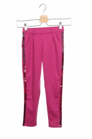 Детски панталон S.Oliver, Размер 5-6y/ 116-122 см, Цвят Розов, 78% полиестер, 18% вискоза, 4% еластан, Цена 42,00лв.