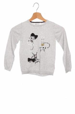Dětský svetr  H&M, Velikost 4-5y/ 110-116 cm, Barva Šedá, Bavlna, Cena  462,00Kč