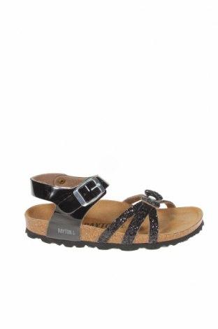 Детски сандали Bayton, Размер 31, Цвят Черен, Еко кожа, текстил, Цена 25,28лв.